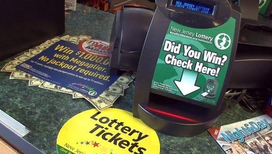 File: Lottery ticket verification machine.