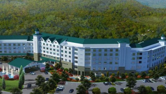 Artist's rendering of Dollywood's DreamMore Resort