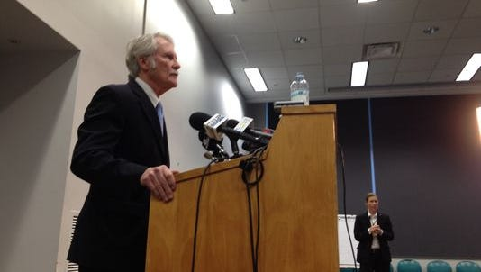 Governor John Kitzhaber addresses questions about his fiancee's finances in this file photo.