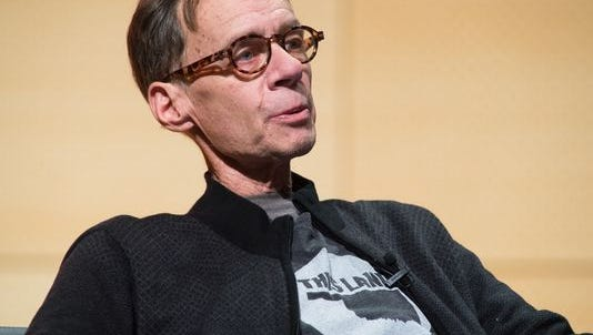 New York Times columnist David Carr attends the TimesTalks at The New School on Feb. 12, 2015, in New York City. Carr died later that day at the age of 58.