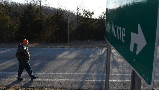 Desert Storm veteran Sam Gardner walks to work 16 miles round trip each work day.