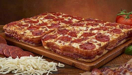 Little Caesars is debuting a new pizza with 3 1/2 feet of bacon wrapped around the crust. This latest creative cuisine to satisfy bacon-lovers brings to mind some of the other more creative dishes featuring bacon.