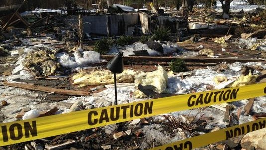 An explosion that leveled a Stafford Township home Tuesday was caused by a cracked gas main, officials say,