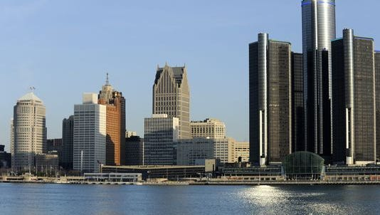 Detroit skyline as seen from Windsor.