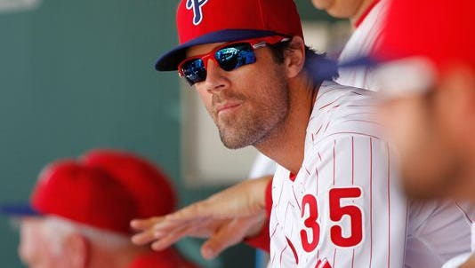 Cole Hamels made quick work of his two-inning outing Friday against the Yankees.