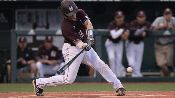 Mississippi State catcher Gavin Collins and his team will play two on Saturday after Friday's game with Alabama was postponed.