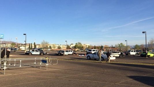 The scene of the fight involving eight officers and nine suspects Saturday night in Cottonwood.