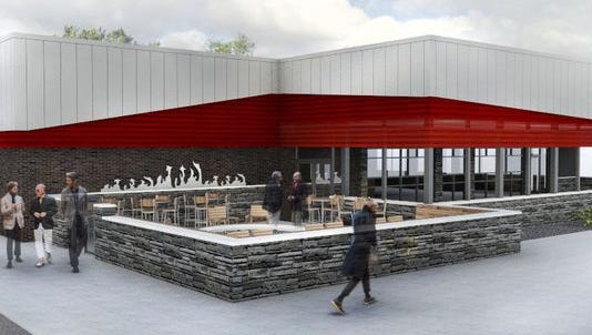 This is a preliminary rendering of what the new Black Rock steakhouse in Canton will look like.