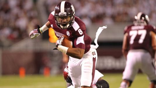 Mississippi State wide receiver Fred Ross finished with eight catches for 119 yards in the first scrimmage.