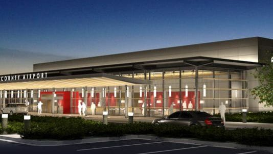A rendering of the proposed Madison County airport.