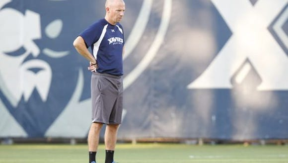 Coach Andy Fleming will lead Xavier's men's soccer
