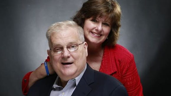 U.S. Rep. Alan Nunnelee, R-Miss., and his wife Tori, right, pose for a portrait.