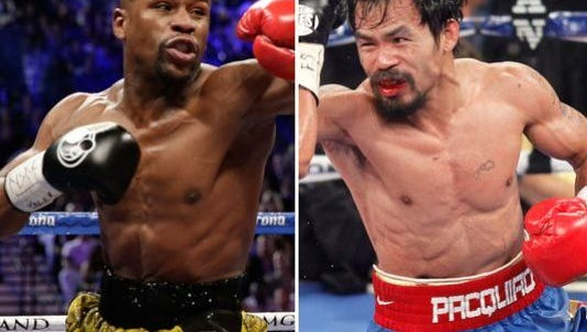 Floyd Mayweather Jr. and Manny Pacquiao will fight in a historic bout Saturday in Las Vegas.
