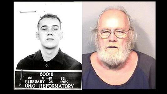 Left: Freshwaters in 1959. Right: Freshwaters in a May 2015 mugshot.