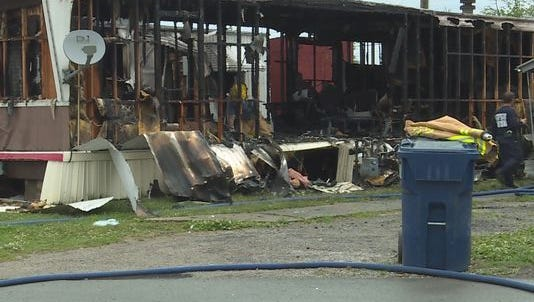 Scene of arson in the 3500 block of Bluegrass Park Drive.
