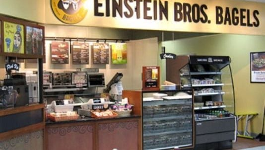 Einstein Bros. Bagels is joining Caribou Coffee at 49th and Louise.