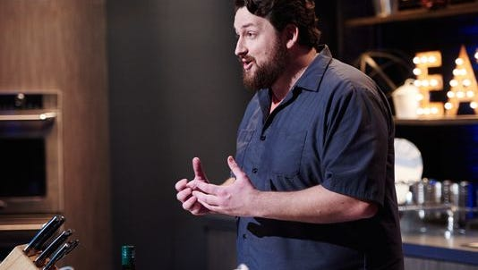 Finalist Jay Ducote performs the Mentor Challenge, Introductory Videos, as seen on season 11 of Food Network Star.