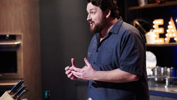 Finalist Jay Ducote performs the Mentor Challenge,