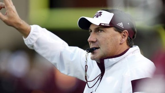 Mississippi State coach Dan Mullen and his team might