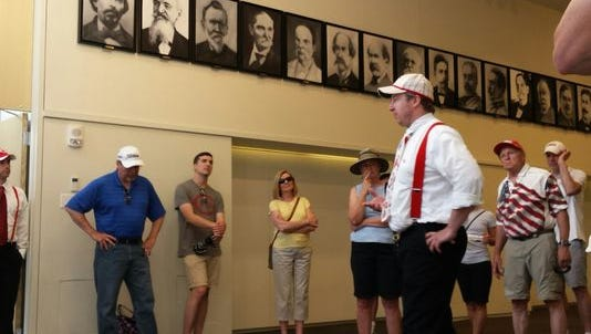 The 1919 World Series walking tour is hosted by the Reds Hall of Fame and American Legacy Tours through October.