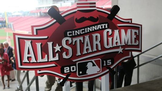 The All-Star Game 2015 logo was revealed last year at Great American Ball Park in Cincinnati, Ohio.
