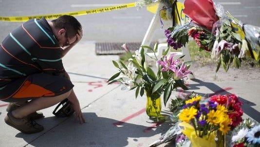 Charleston Shooting makeshift memorial.
