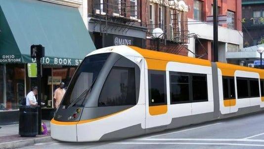 Rendering of Cincinnati streetcar.