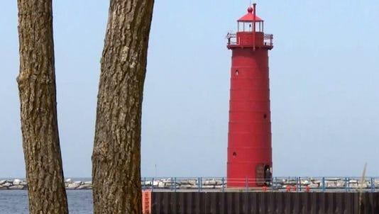 Muskegon lighthouse.