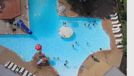 Texas-shaped community swimming pool.