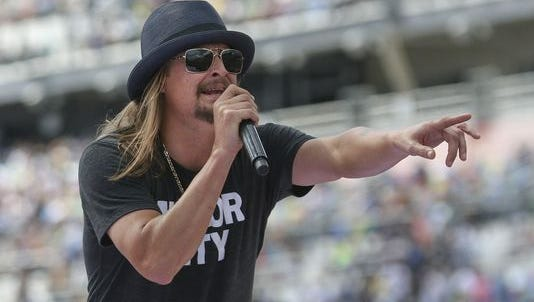 Kid Rock is known for his use of the Confederate flag.