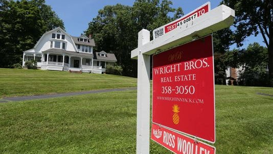 The volume of real estate sales is way up, but prices have remained relatively unchanged compared to last year. Here is a home for sale along North Broadway in Upper Nyack.