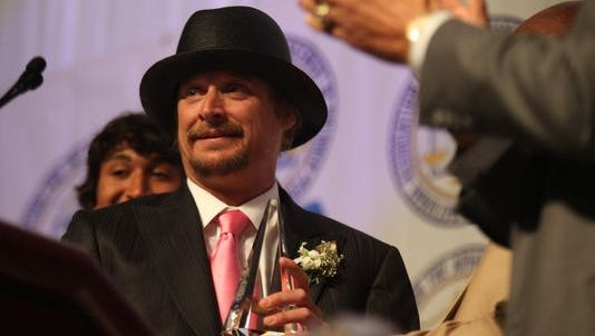 Kid Rock is honored at the 56th Annual Detroit Branch NAACP Fight for Freedom fund dinner at Cobo Center in May 2011.