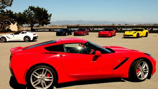Chevrolet's Corvette comes in red, among other colors.