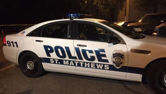 Police at the scene of at Mallgate Apartments in St. Matthews.