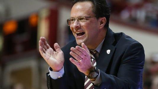 Indiana University men's basketball coach Tom Crean.