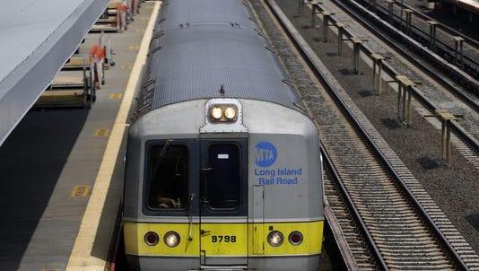 A Long Island Railroad train.