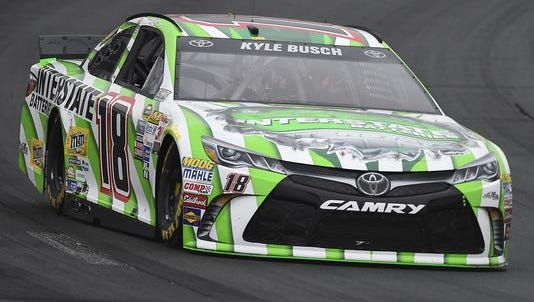 Kyle Busch won the 5-hour ENERGY 301 at New Hampshire on Sunday, July 19, 2015 for his third win in four races.