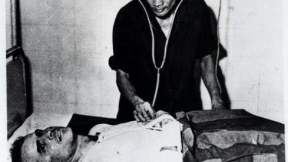 John McCain is tended to at a Hanoi, Vietnam, hospital as a prisoner of war in the fall of 1967.
