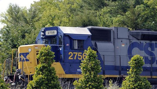A man was killed by a train in Bellvue Monday morning.
