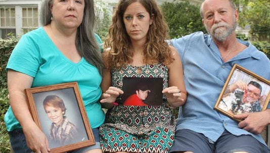 The family of Ben Phillips at their home in Belhaven.