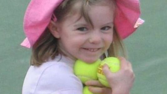 This undated image released Sunday Oct. 13, 2013, by the London Metropolitan Police, shows missing British girl Madeleine McCann before she went missing.