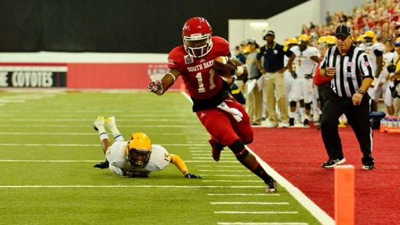 """Eric """"Munchie"""" Shufford emerged as a USD standout at receiver last season."""