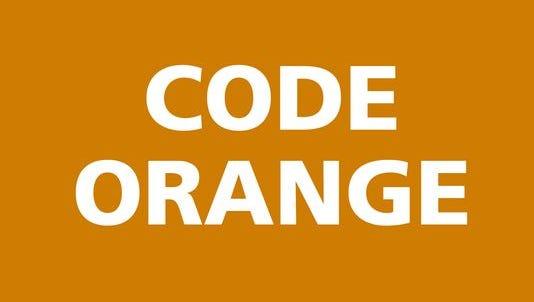 Code orange issued Wednesday