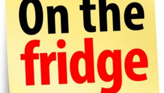 On the fridge