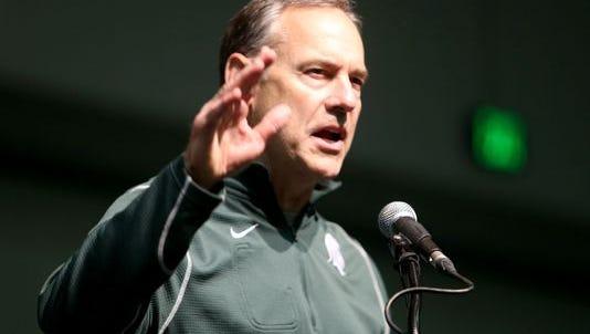 MSU football coach Mark Dantonio.