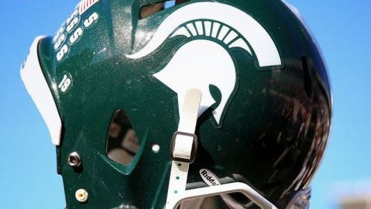Michigan State University football helmet