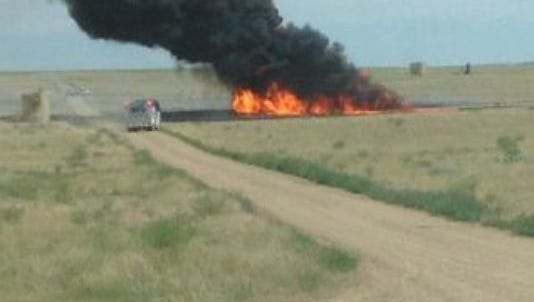Large gas explosion in Weld County