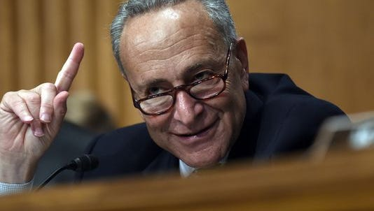 In this July 16, 2015 photo, Sen. Charles Schumer, D-N.Y., speaks during a hearing on Capitol Hill in Washington.