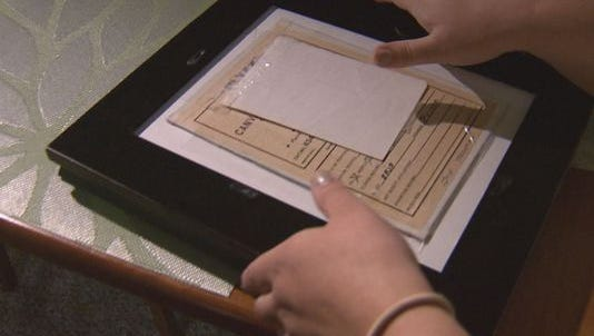 Michelle Cantrall found a letter inside a framed photo she bought at Goodwill.