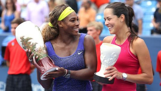Serena Williams (left) defeated Ana Ivanovic for the 2014 W&S Open title. She returns to Mason in a quest to defend that championship.